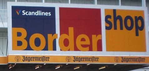 Scandlines bordershop i Puttgarden.